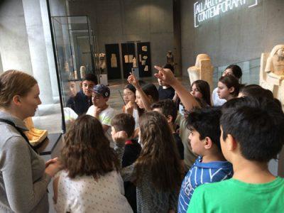 Die Klasse 5a im Ägyptischen Museum