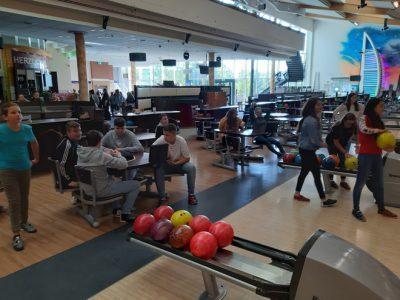 Wandertag der 8b ins Bowling-Center