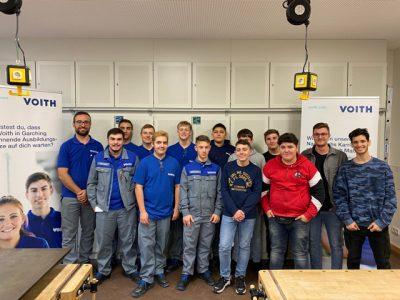 Technik hautnah erleben – Werkunterricht mit der Firma Voith – Klassen 8a und 8b