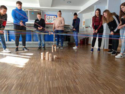 Fröbelturm – Programm Klasse 9a – gemeinsam sind wir gut!
